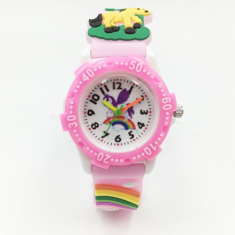 Holy Unicorn Kids Girls Quartz Watch Horse Pattern Silicone Strap Children Boy Wristwatch Student Waterproof Watches Relojes New