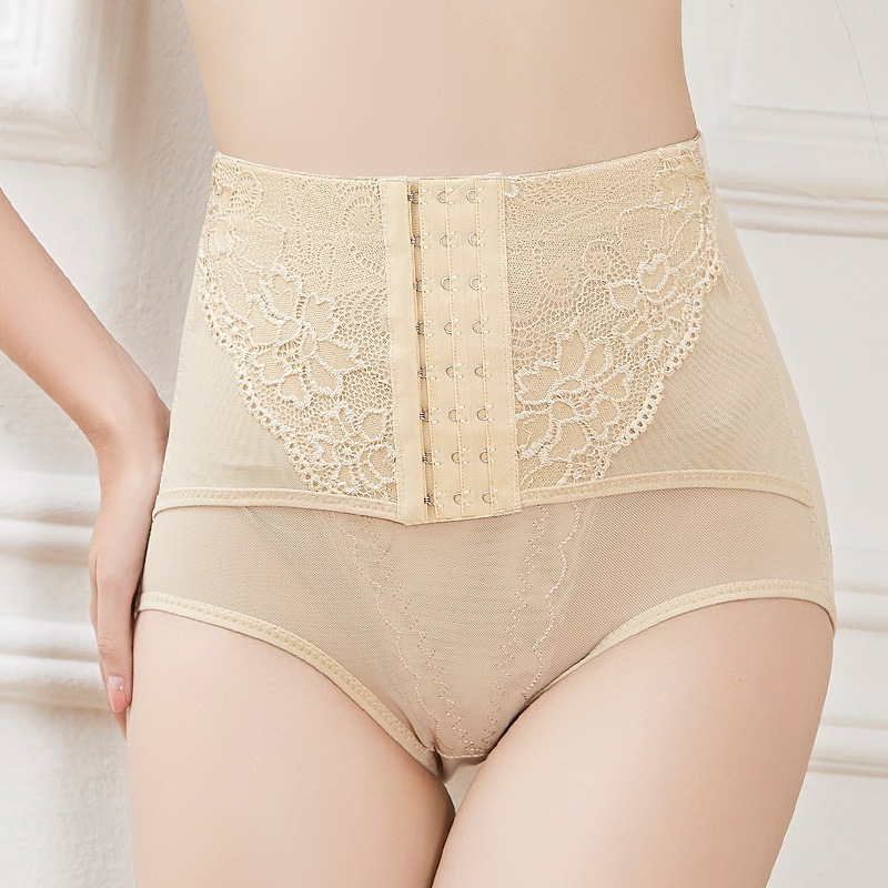 Women High Waist Shaping Panties Lace Sexy Briefs Breathable Body Shaper Slimming Tummy Underwear Panty Shapers