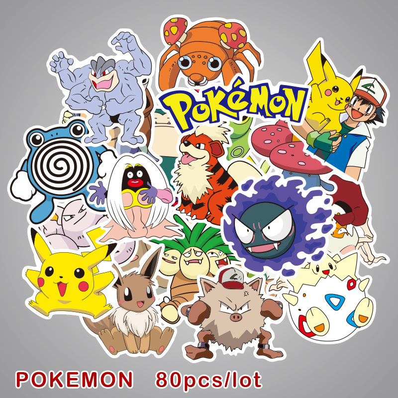 81pcs-font-b-pokemon-b-font-psyduck-cartoon-stickers-waterproof-vinyl-decal-for-laptop-helmet-bicycle-luggage-guitar-car-children-stickers-toy