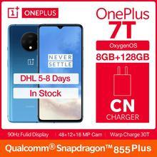 Global ROM OnePlus 7T Fulid AMOLED 6.55″ Smartphone 90Hz Snapdragon 855 Plus NFC UFS 3.0 48 MP Triple Cameras