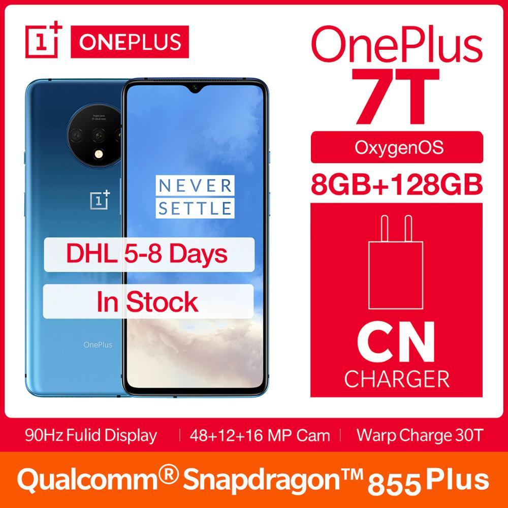 OnePlus 7T Fulid AMOLED 6,55 смартфон 90 Гц Snapdragon 855 Plus NFC UFS 3,0 48 МП с тройной камерой
