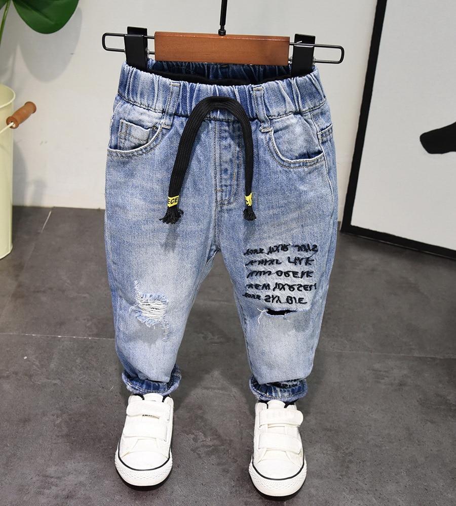 Image 2 - Новые весенне осенние стильные джинсы для маленьких мальчиков, джинсы для мальчиков 2 6 лет, штаны для мальчиков, чистый хлопок, высокое качество, для 2 6 летДжинсы   -