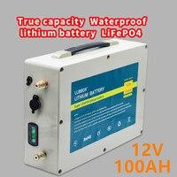 True capacity Lifepo4 12V100ah lithium battery pack 12V100AH waterproof LiFePO4 lithium battery pack for inverter ,ship motor,rv