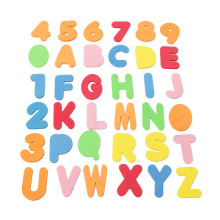 36 Pieces / Set Of Alphanumeric Letters Bath Puzzle Eva Toys Baby ChildrenS Kindergarten 26 +10 D