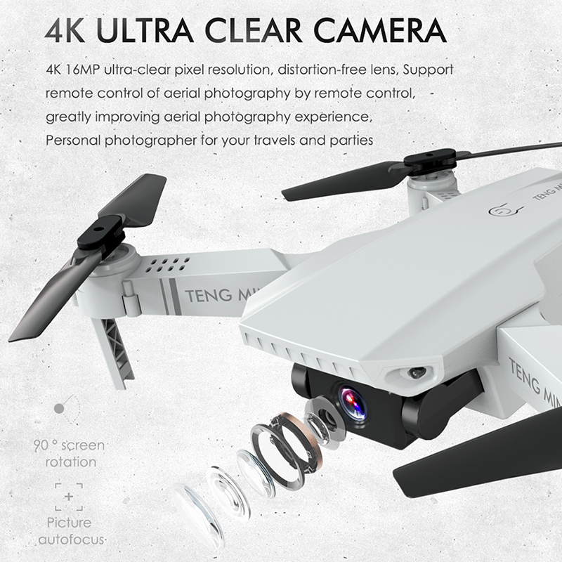 cheapest Newest Drone 4K 720P HD Camera RC Mini Foldable Quadcopter WIFI FPV Selfie Optical Flow Quadcopter RC Helicopter