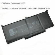 Onevan Подлинная f3ygt батарея для ноутбука dell latitude 12