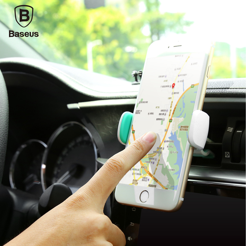 Baseus Mini Car Phone Holder Car Air Vent Clip Mount For 3.5-5.5