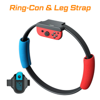 Ring Con for Nintend Switch Fitness Ring Fit Adventure Sport Game Set Adjustable Leg Strap Sport Band Ring Con Anti Slip Grips