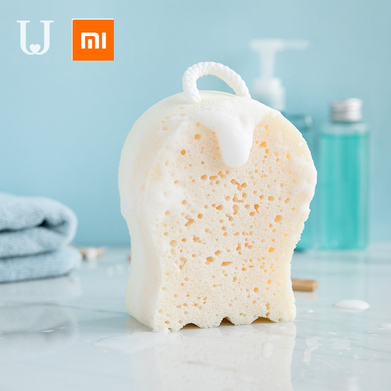 Xiaomi Mijia Jordan&Judy Cartoon Bath Sponge Soft SAin Bath Ball Exfoliating Sponge Environmental Safety Double-sided Design
