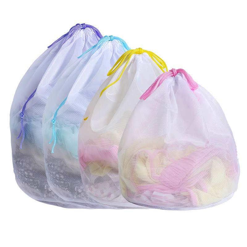 Polyester Zipper Laundry Bag Clothes Wash Bag Bra Socks Underwear Bag Laundry Container Machine Protector Multisize Home Storage
