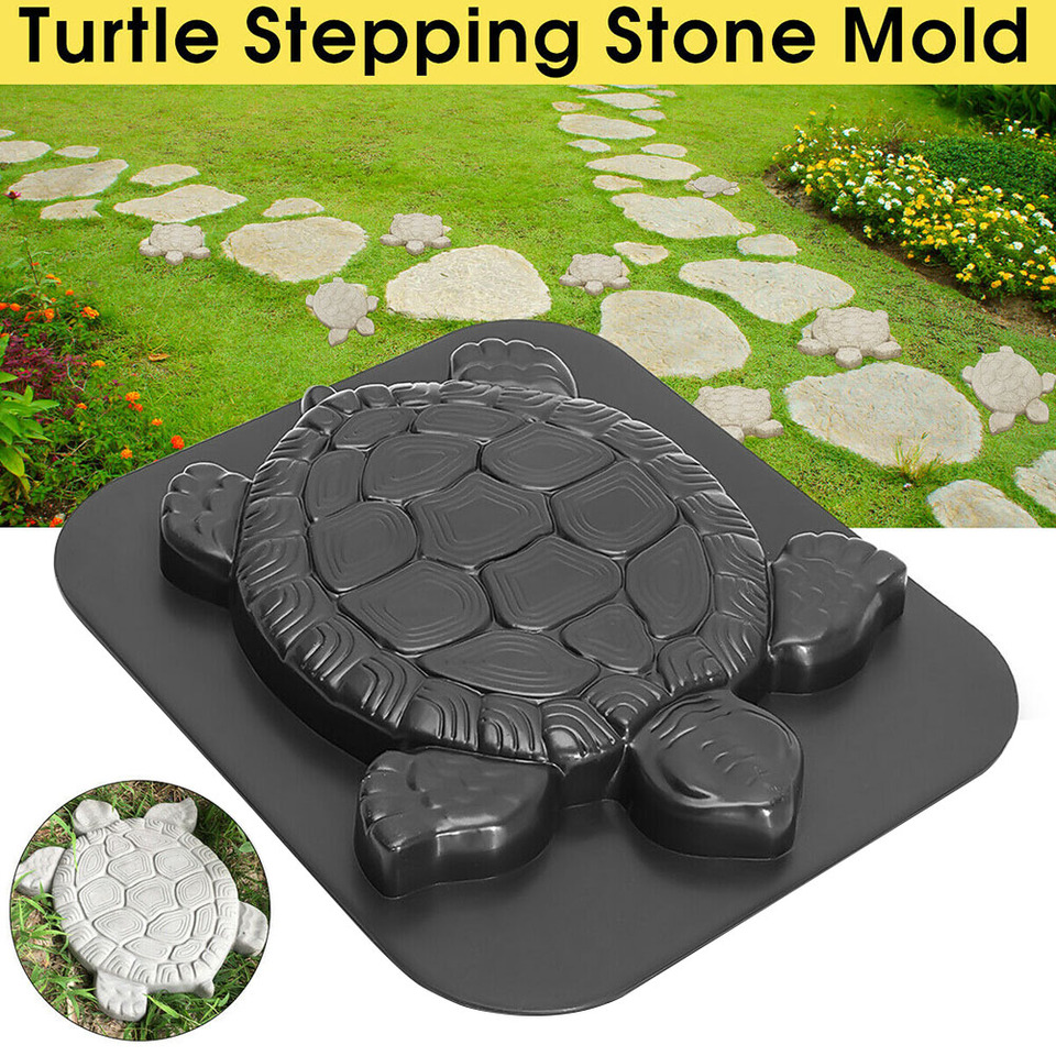 Turtle Shape Concrete Cement Stepping Stone Landscape Road Garden Decor Paving Mold Driveway Reusable Outdoor Tool ABS Manual|Paving Molds| - AliExpress