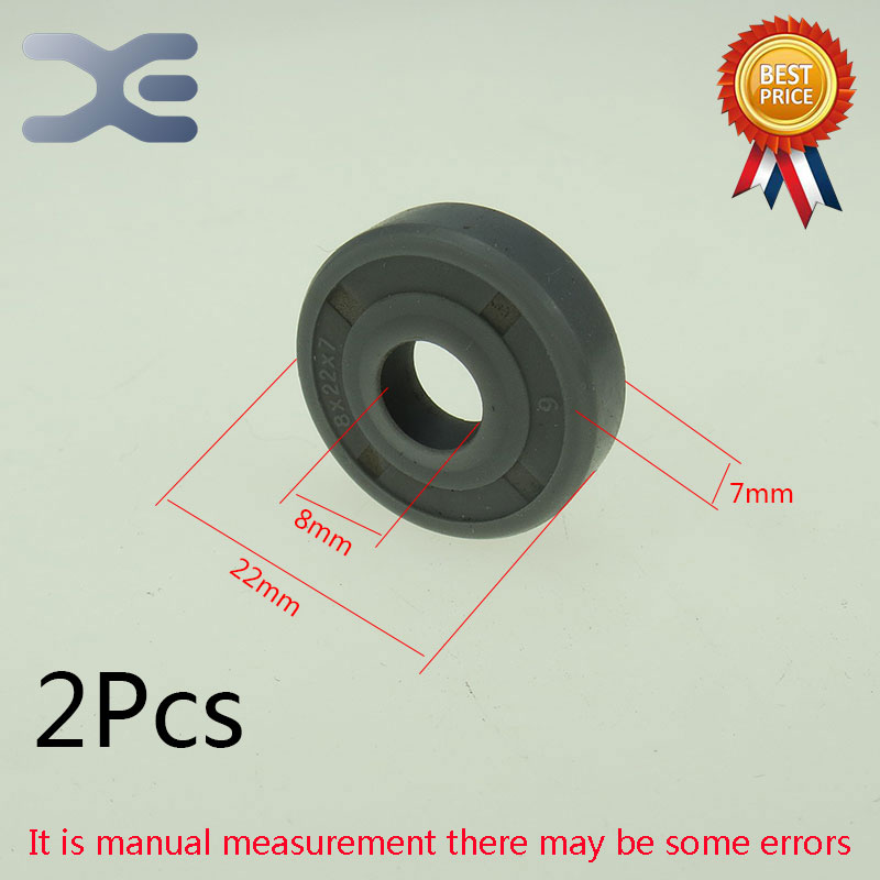 2Pcs Breadmaker Sorbet Machine Repair Parts  For LG Oil Seal Ring TC Inner Diameter 8 Outer Diameter 22 Thickness 7 Wearable