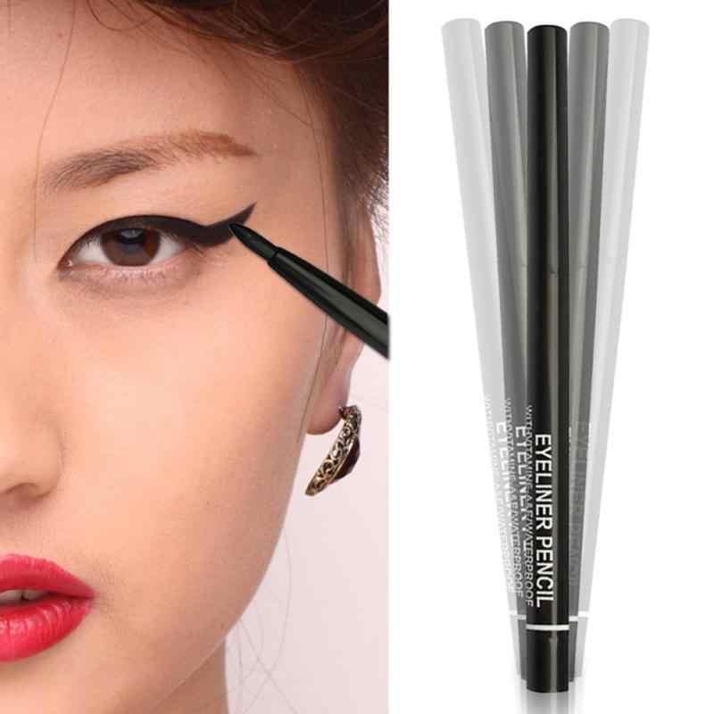 1 pc profissional líquido delineador preguiçoso maquiagem dos olhos fácil de usar caneta delineador preto à prova dwaterproof água natural olho cosméticos fornecimento tslm2