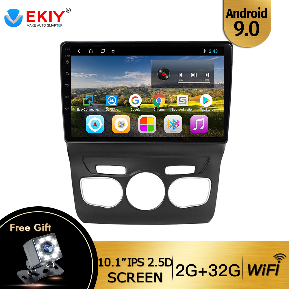 EKIY 9'' IPS 10.1 inch Touchscreen Android 9.0 GPS Navigation System Wifi Bluetooth Car Radio For 2013 <font><b>2014</b></font> 2015 2016 <font><b>Citroen</b></font> <font><b>C4</b></font> image
