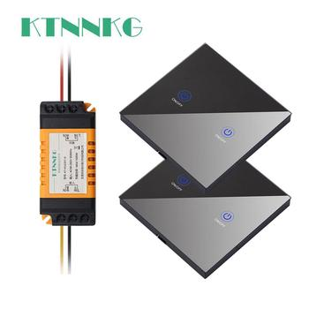 KTNNKG 1/2/3 gang 433Mhz smart push Wireless Switch Light RF Remote Control 110V 220V Receiver Wall Panel button Ceiling Lamp
