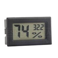Temperatura de umidade do charuto do higrômetro do quadrado exato plástico do bolso do higrômetro do charuto de digitas para higrômetros do humidor