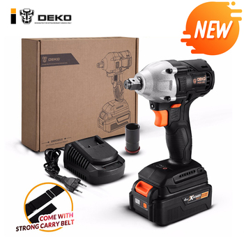 DEKO NEW GBW20DU2 20V Brushless Electric Impact Wrench Power Tool Rechargeable For 4000mAh Lithium-Ion Battery 20v 2500mah li ion rechargeable battery power tool replacement battery for black