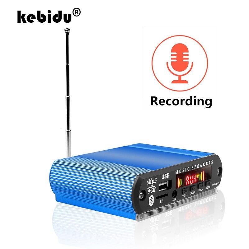 Kebidu bluetooth 5.0 MP3 WMA WAV décodeur carte 12V Module Audio sans fil écran couleur USB TF FM Radio pour accessoires de voiture