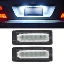 2x18 smd led luz número da placa de licença lâmpada erro livre para benz smart fortwo coupe convertible 450 451 w450 w453 quente
