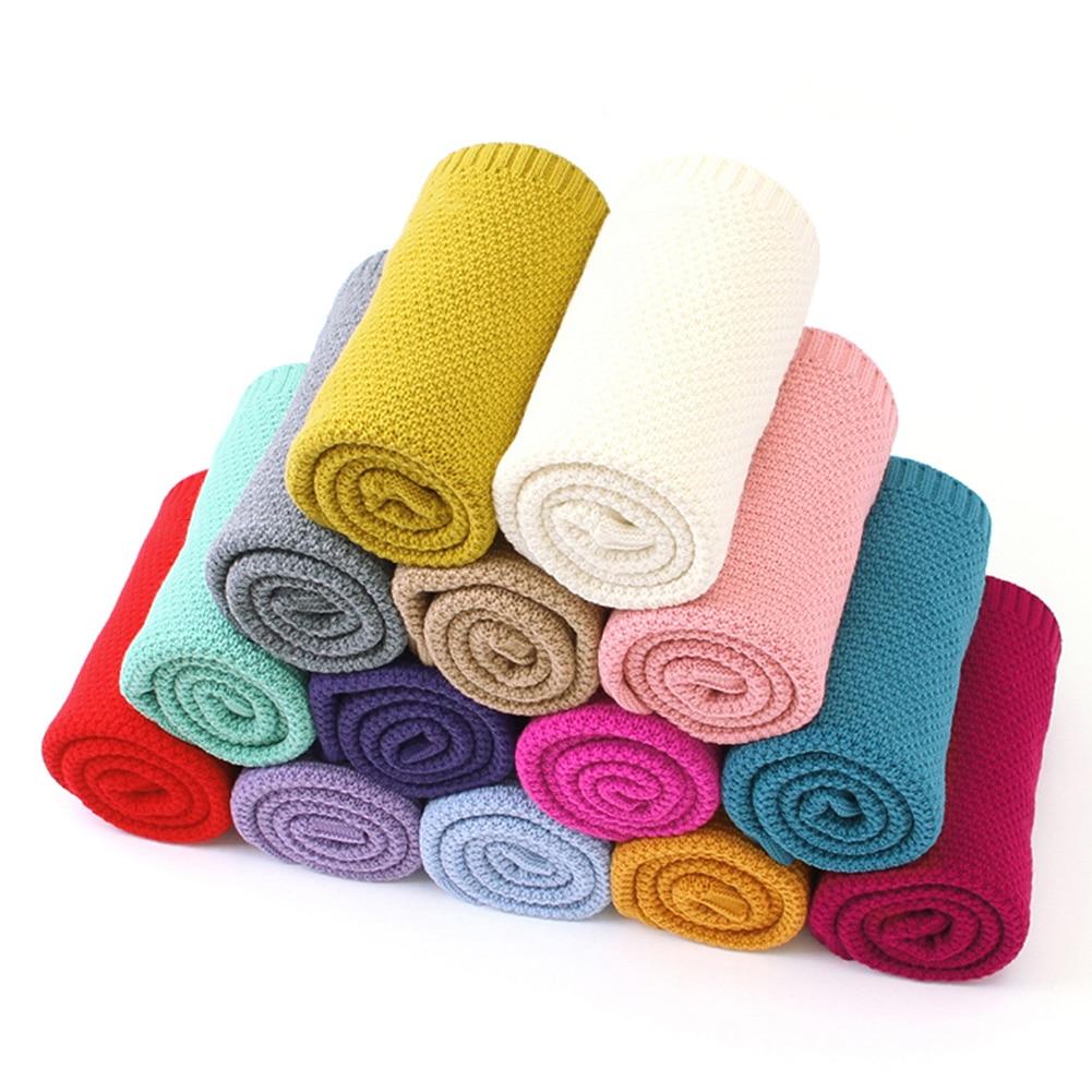 Emmababy Newborn Baby Knitted Crochet Swaddle Wrap Swaddling Blanket Warm Sleeping Bag