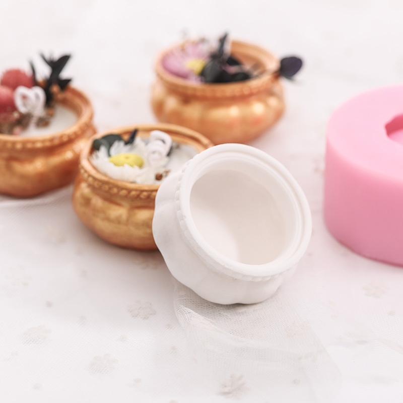 DIY Aroma Candle Silicone Mold 3D Punpkin Shape Pudding Cake Baking Mould Handmade Soap Making Tools Cement Flower Pot Molds