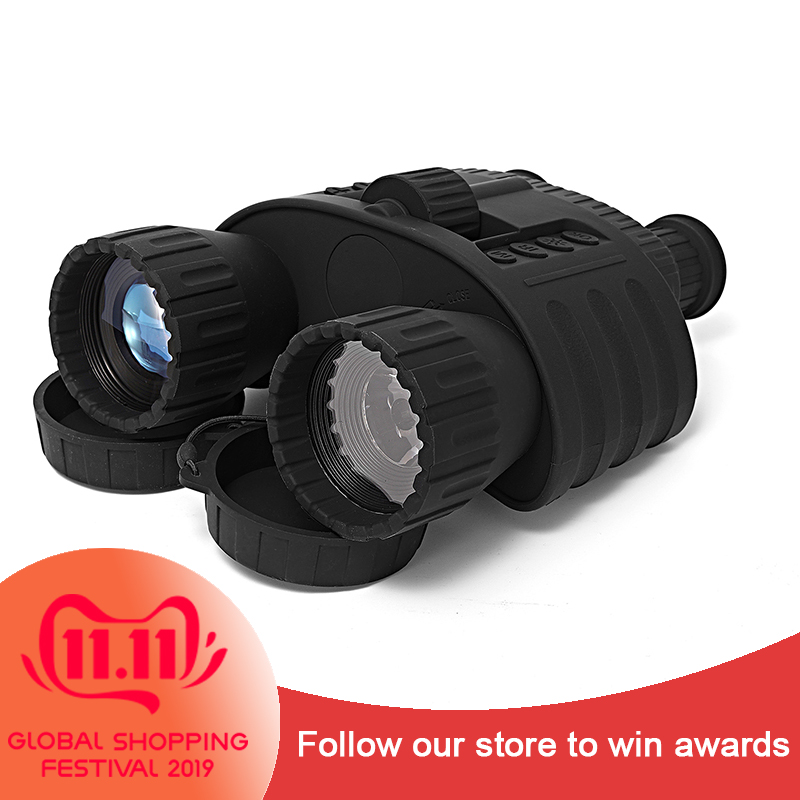 Binoculares de caza nocturna de alcance de 300M 4x50 visión nocturna Digital alcance NV 5mp foto 720p Video visión nocturna óptico