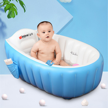 Hot Selling 98*65*28cm Thickening Baby Bathtub PVC Inflatable Infant Swimming Pool For 0-3 Years Old Baby Bath Tub