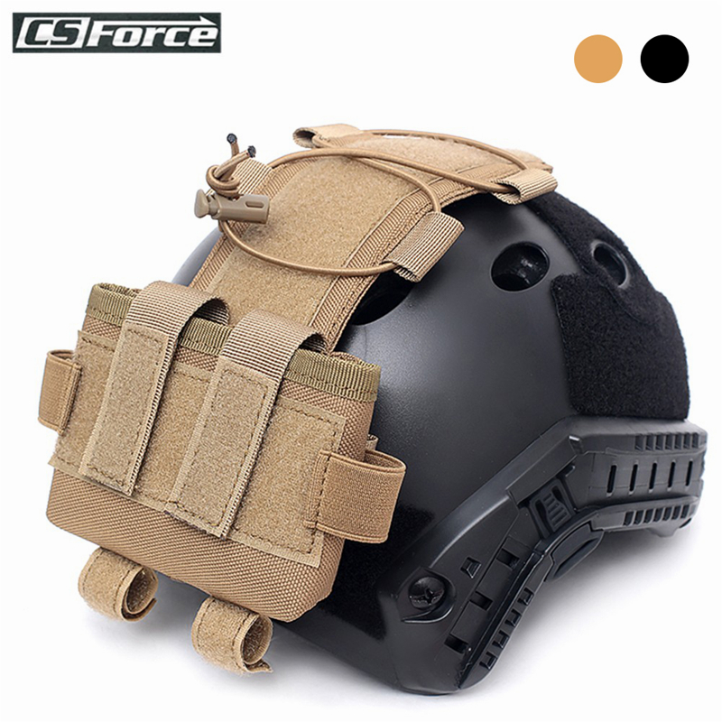 Tactical MK2 Helmet Battery Case Helmet Accessory Bag Multifunction Balance Weight Bag For FAST Helmet Military Battery Pouch