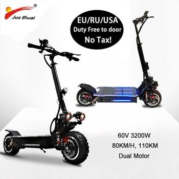 Patinete eléctrico de alta velocidad de 80 KM/H, 60V, 3200W, potente Motor todoterreno, Scooter Eléctrico plegable, Patinete eléctrico Adulto