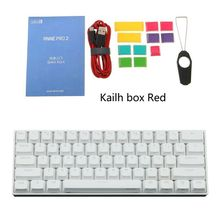 60% Mechanical Keyboard Bluetooth 4.0 Type-C RGB 61 Keys Kailh Box Switch hexgears x1 bluetooth keyboard rgb backlight pbt keycap kailh choc switch keyboard wireless portable mechanical keyboard