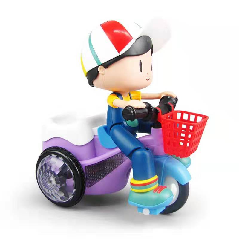 HOT Sell New Children's Stunt Tricycle 360, Rotating Music And Lighting Electric Toys Kids Toys