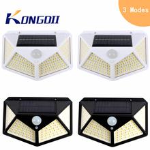 LED Solar Light Outdoor Solar Lamp Waterproof PIR Motion Sensor Solar Powered Light for Garden Wall Street Decoration 3 Modes