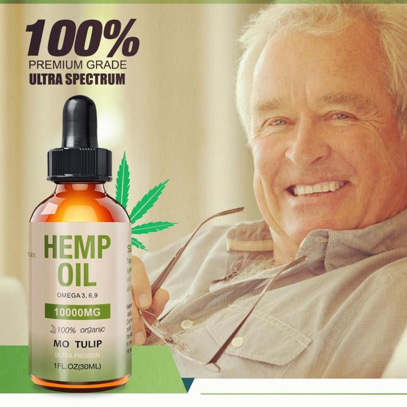 30ml 10000mg Hemp Organic Essential Oil Hemp Seed Oil Herbal Drops Body Relieve Stress Oil Skin Care Help Sleep