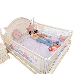 Barrera de seguridad plegable para niños, valla para bebés, cama, Riel, puerta de valla, patio, barandilla para niños, parachoques lateral para cama
