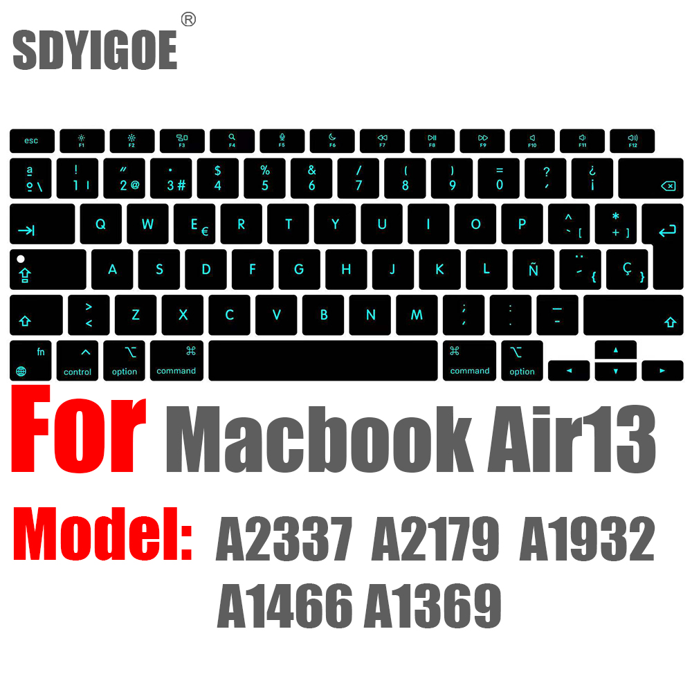 Чехол для клавиатуры ноутбука Macbook Air 13 M1 A2337 силиконовая защитная Пленка чехол для клавиатуры Air13 A1932 A2179 A1466 чехол ES FR RU