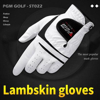 Męskie miękkie skórzane rękawiczki golfowe męskie odkryte lewe prawe rękawice golfowe pochłaniające pot oddychające sportowe akcesoria do golfa D0515 tanie i dobre opinie Left Hand Right Hand Soft Comfortable Breathable Platoon Is Wet Odor-Proof Men S Golf Glove Pure Sheepskin Soft Left Hand Anti-Skidding Gloves