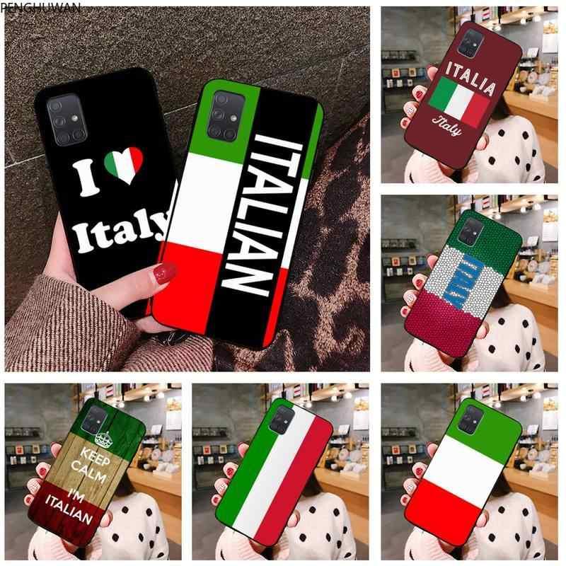 Coque souple personnalisée avec drapeau d'italie pour Samsung, compatible modèles Galaxy A21S, A01, A11, A31, A81, A10, A20E, A30, A40, A50, A70, A80, ...