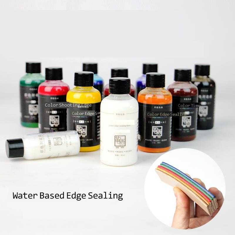 DIY Vegetable Tanned Leather Edge Agent Water-based Edge Sealing Liquid Polishing 30ml/bottle 10colors Chosing Leather Craft