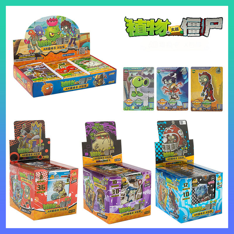 Plants Vs Zombies Pvz Game Cards Plants Zombies Action Figures Collect Card Pea Shooter Sunflower Trading Card Kid Toy