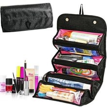 Large Capacity Roll-N-Go Cosmetic Bag For Women Travel Storage Waterproof PVC Ma
