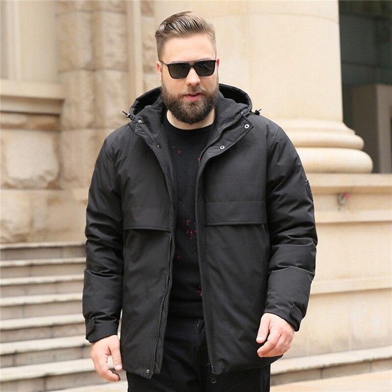 Hiver grande taille nouveau hommes à capuche plus engrais pour augmenter le froid et chaud 10xl doudoune 125kg marée graisse mode