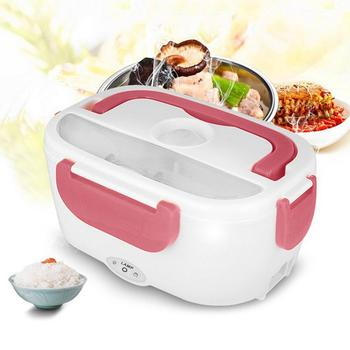 220V Electric Lunch Box Food Storage Container Heating Warmer Dinnerware Plastc Car Dual Use Rice Box Food Warmer Dinnerware Set image