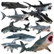Simulação de vida marinha modelo de animais brinquedo gigante dente tubarão assassino baleia azul baleia animal tubarão modelo de brinquedo educativo meninos presentes