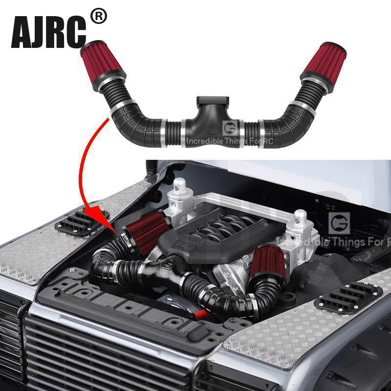 Simulated Engine Intake Air Filter Kit For For 1/10 RC Crawler Car Traxxas TRX4 Defender Bronco Axial Scx10 II 90046 D90 DD10