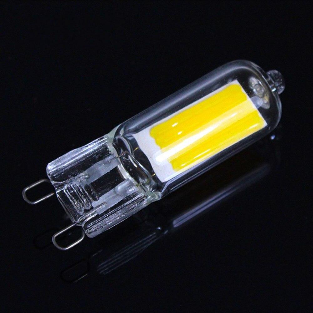 220V Ampoule LED G9 7W 9W 12W No Flicker Glass COB G9 LED Bulb Home Lighting Chandelier Spotlight Replace Halogen Lamp Bombillas