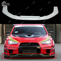 FRP Front Bumper Lip Trim For EVO 10 VRSV2 Wide Style Glass Fiber Front Lip (Only Wide body kit) Tuning For EVO10 Racing