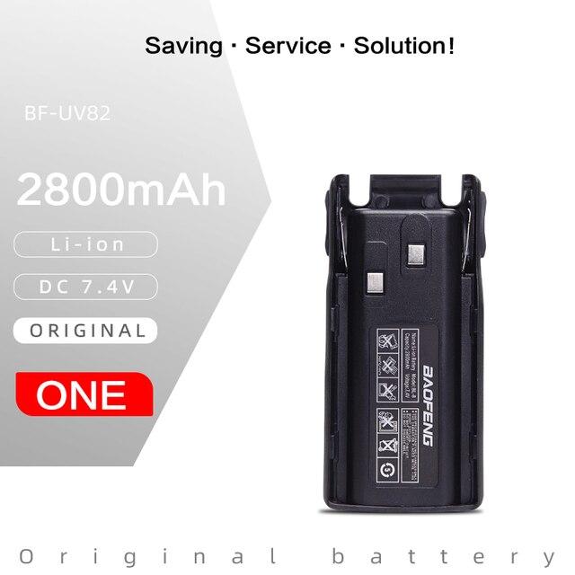 Original Baofeng BL 8 2800mAh 7.4V Li ion Battery for UV 82 UV 8D UV 89 UV 8 Two Way Radio Transceiver Battery High Capacity