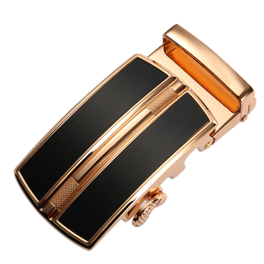 Automatic  Men's Belt Buckle Without Teeth Automatic Buckle Head DIY Business Casual Leather Craft Accessories