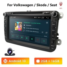 "8 ""Android 9.0 IPS DSP Car DVD Radio Stereo GPS Multimediale per Volkswagen VW Passat B6 Golf Tiguan Auto di navigazione Bluetooth USB"