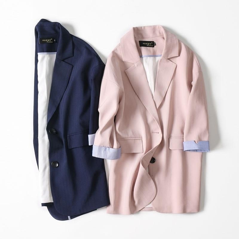 Women's Jacket Spring Female Coat Korean Vintage Blazer Women Clothes 2020 Korean Blazers And Jackets Outwear Suit Tops ZT2328